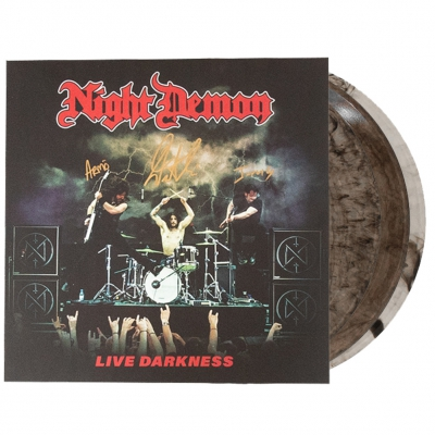 night-demon - Live Darkness Autographed 3xLP (Clear Smoke)
