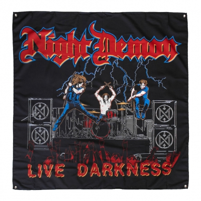 night-demon - Live Darkness Flag (4'x4')