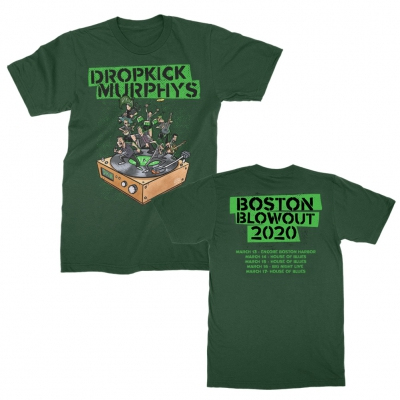 dropkick-murphys - Boston Blowout 2020 Tee (Green)