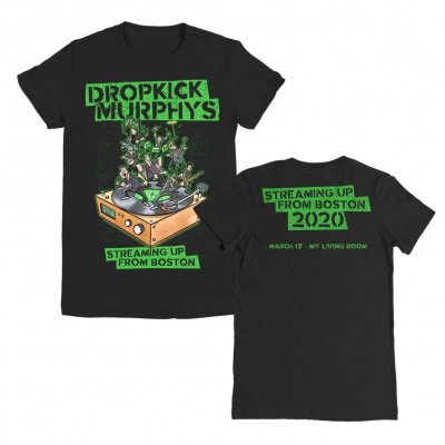 dropkick-murphys - Streaming Up From Boston Women's Tee (Black)