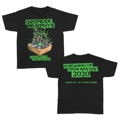 dropkick-murphys - Streaming Up From Boston Youth Tee (Black)
