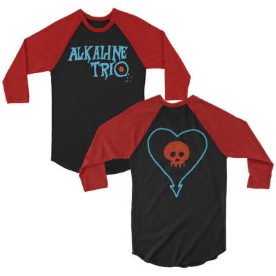 alkaline-trio - E.P. Logo Heartskull Raglan (Black/Red)