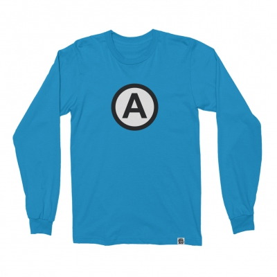 the-aquabats - Circle A Long Sleeve (Sapphire)