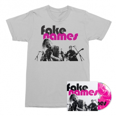 Fake Names - Fake Names CD + Tee (White) Bundle