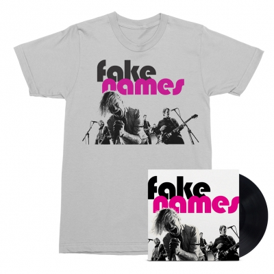 Fake Names - Fake Names LP (Black) + Tee (White) Bundle