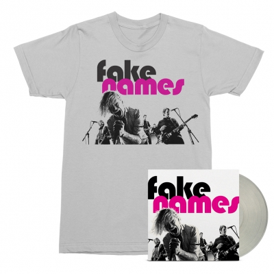Fake Names - Fake Names LP (Clear) + Tee (White) Bundle