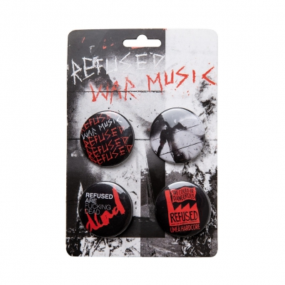 refused - War Music Badge Pack