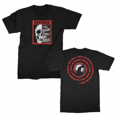refused - Damaged Tee (Black)