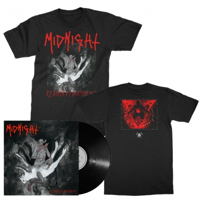 midnight - Rebirth By Blasphemy LP (Black) + Album T-Shirt (Black) Bundle