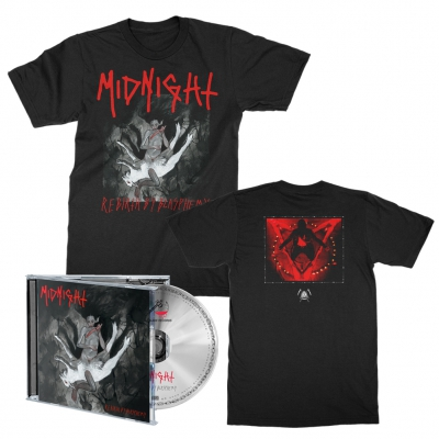 midnight - Rebirth By Blasphemy CD + Album Tee (Black) Bundle