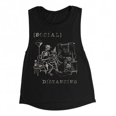 social-distortion - Social Distancing Women's Tank (Black)