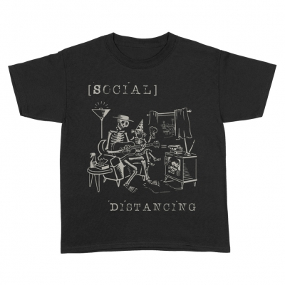 Social Distancing Youth T-Shirt (Black)