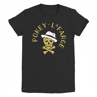 pokey-lafarge - Skull and Crossbone Womens Tee (Black)