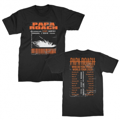 papa-roach - Dead Roach Date Back Tee (Black)