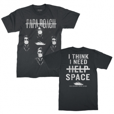 papa-roach - I Need Space Tee (Black)