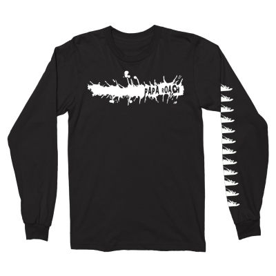 papa-roach - Splatter Long Sleeve (Black)