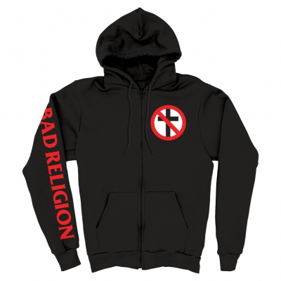 Bad Religion - Crossbuster Zip Up Hoodie (Black)