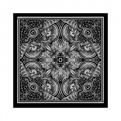 kvelertak - Owl Eyes Bandana (Black)