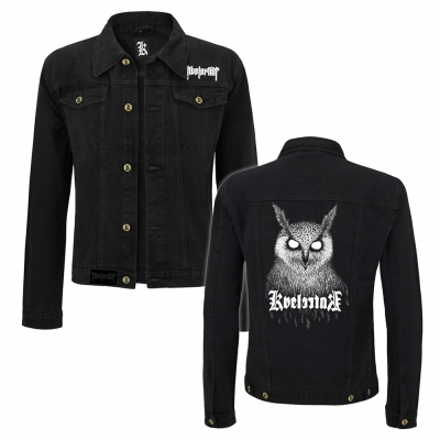 Barlett Owl Denim Jacket (Black)