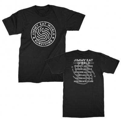 jimmy-eat-world - Surviving Emblem New Zealand Tour Tee (Black)