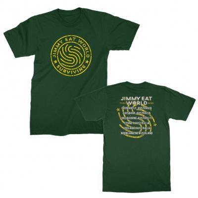 jimmy-eat-world - Surviving Emblem Australian Tour Tee (Green)