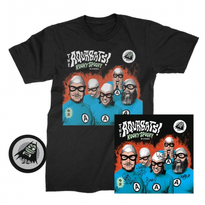 the-aquabats - Kooky Spooky Signed CD + Tee (Black) + Patch Bundle