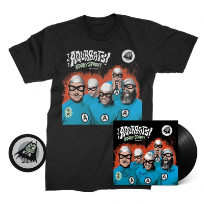 the-aquabats - Kooky Spooky Deluxe Signed LP (Black) + Tee (Black) + Patch Bundle