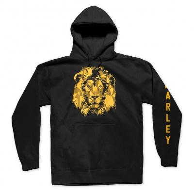 ziggy-marley - Ziggy Marley Gold Lion Pullover Hoodie (Black)