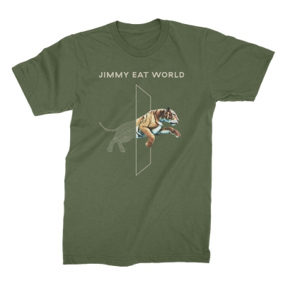 Jumping Tiger Tee (Olive Green)
