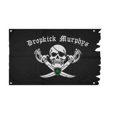 dropkick-murphys - Jolly Roger Die Cut Flag (Black)