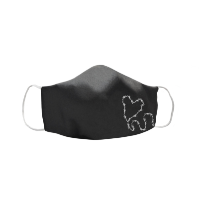 Barbed Wire Heart Face Mask (Black)