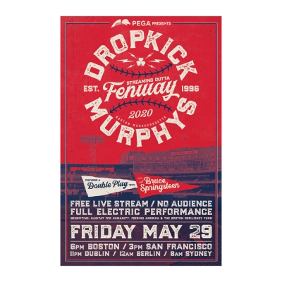 dropkick-murphys - Streaming Outta Fenway 2020 Poster (Red)