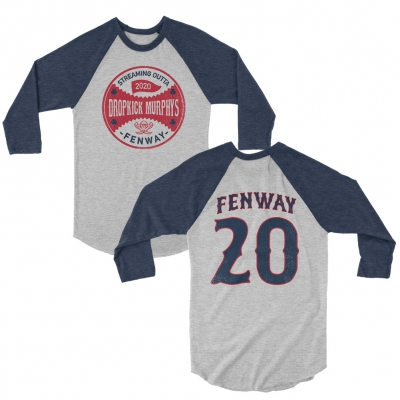 dropkick-murphys - Series Seal Raglan (White/Navy)