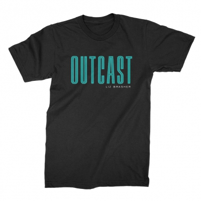 liz-brasher - Outcast T-Shirt (Black)
