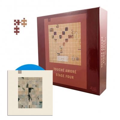 """touche-amore - Stage Four Puzzle (500 piece) + Palm Dreams 7"""" (Blue) Bundle"""