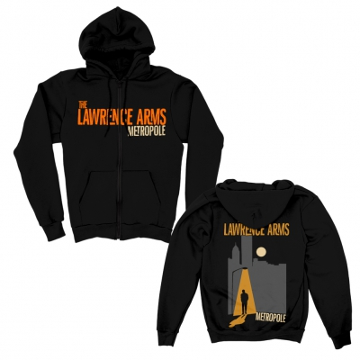 The Lawrence Arms - Metropole Zip-Up Hoodie (Black)