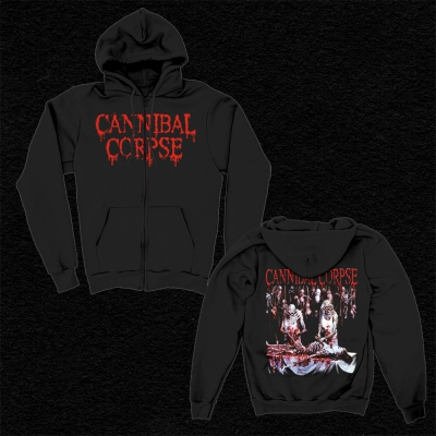 IMAGE | Butchered At Birth Zip Up Sweatshirt (Black)