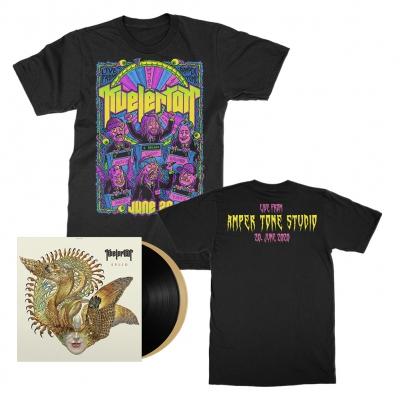 kvelertak - Live From Amper Tone Studios Tee (Black) + Splid 2xLP (Black/Gold) Bundle