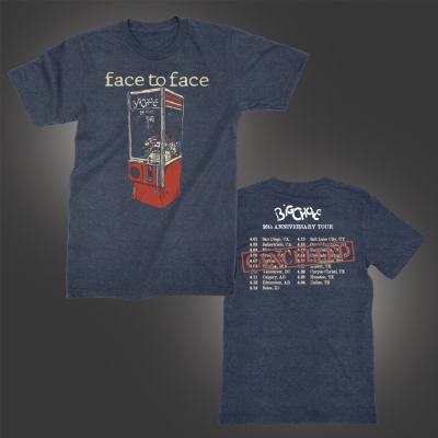 face-to-face - Big Choice Cancelled Tour T-Shirt (Heather Blue)