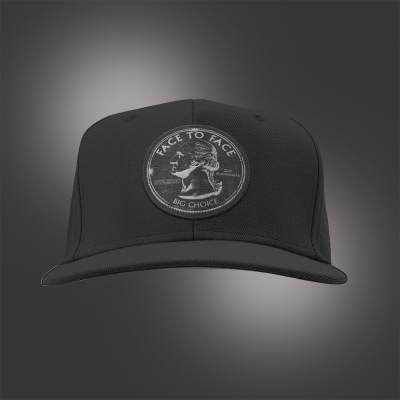 face-to-face - Big Choice Coin Snap Back Hat (Black)