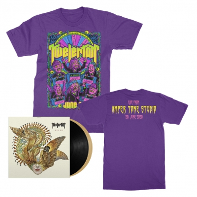 kvelertak - Live From Amper Tone Studios Tee (Purple) + Splid 2xLP (Black/Gold) Bundle