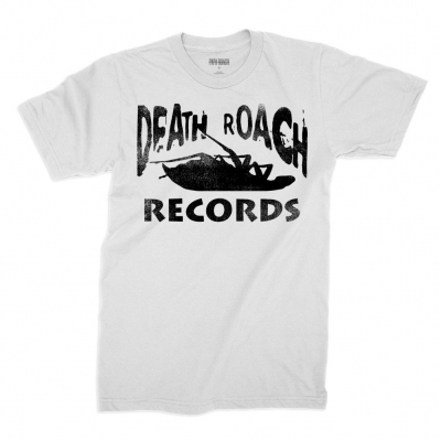 papa-roach - Death Roach Records Tee (White)