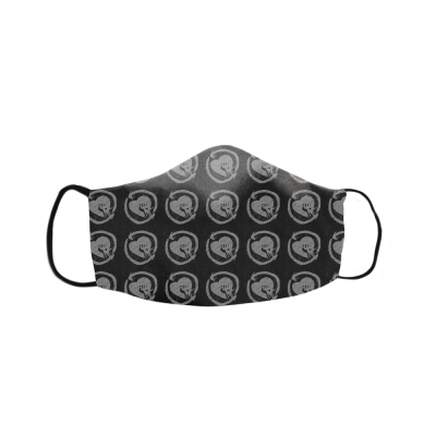 rise-against - HeartFist Pattern Face Mask (Black)