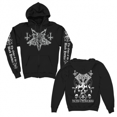 dark-funeral - Order Of The Black Horde Zip Up Hoodie (Black)