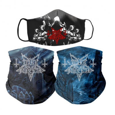 dark-funeral - Cloak Face Mask + Shadows Gaiter + Secrets Gaiter Bundle