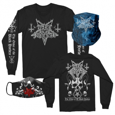 dark-funeral - Long Sleeve + Cloak Face Mask + Shadows Gaiter Bundle