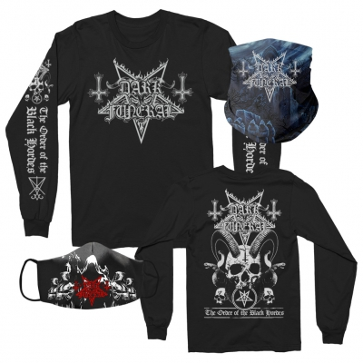dark-funeral - Long Sleeve + Cloak Face Mask + Secrets Gaiter Bundle