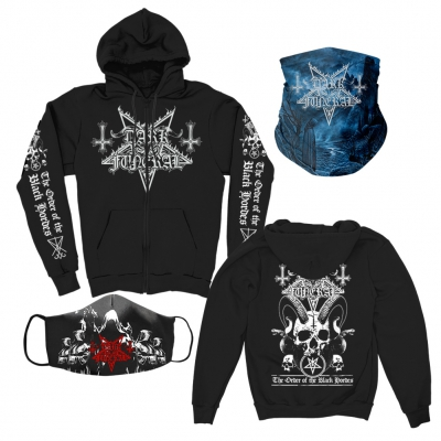 dark-funeral - Hoodie + Cloak Face Mask + Shadows Gaiter Bundle