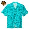 IMAGE | Milo Pattern Button Up Shirt (Aqua) - detail 1