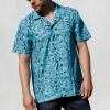 IMAGE | Milo Pattern Button Up Shirt (Aqua) - detail 2